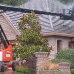 Aerial Roof Cleaning